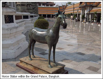 Horse Statue in the Grand Palace Bangkok
