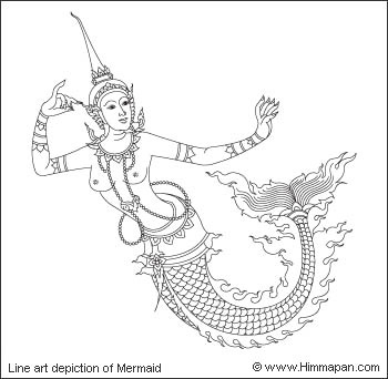 Nang ng-uek or mermaid is the marine creature that got mentioned in